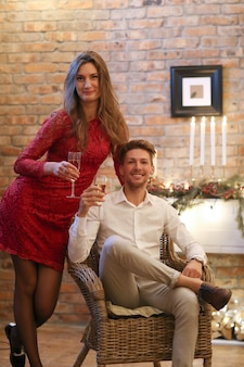 Kerstavond, man en vrouw