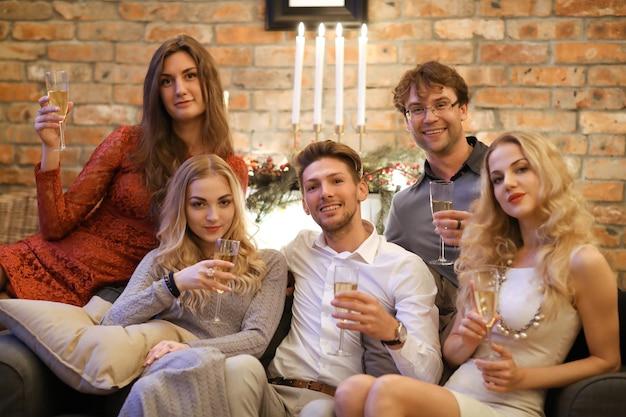 Kerstavond met vrienden