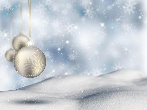 Kerstbal achtergrond