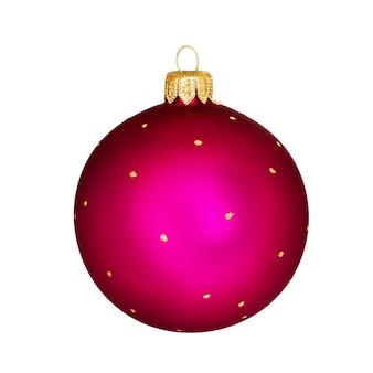 Kerstbal op wit, decoratie voor de kersttijd. kerstmis