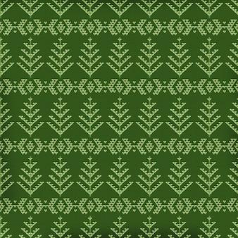 Kerstbomen stof naadloze patroon