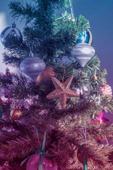 Kerstboom feestelijke achtergrond