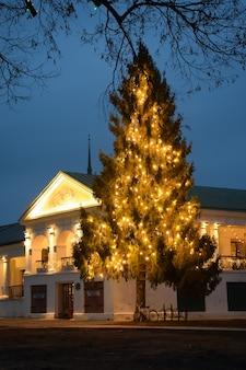 Kerstboom in suzdal kerstboom in winkelgalerij van suzdal kerstdecoratie