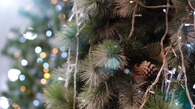Kerstboom met mooie lichten.