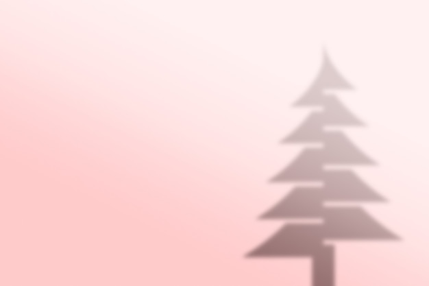 Kerstboom schaduw achtergrond