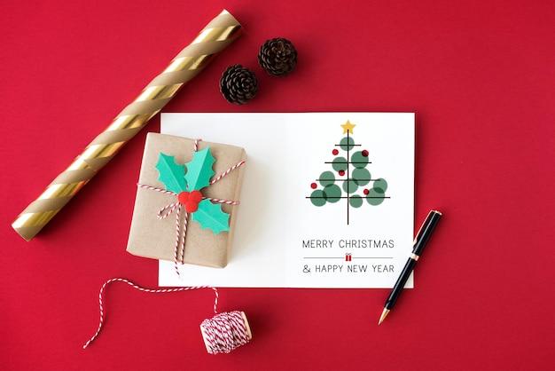 Kerstboom viering klatergoud concept