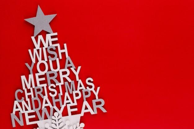 Kerstboom, wens noel, sparren van de brieven.