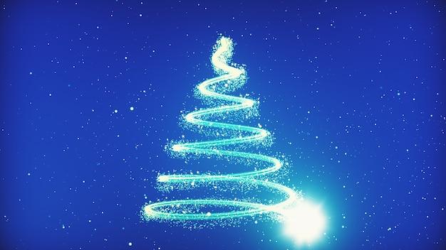 Kerstboomachtergrond - vrolijke kerstmis 3d illustratie