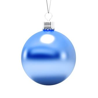 Kerstboomstuk speelgoed, een blauwe geïsoleerde bal