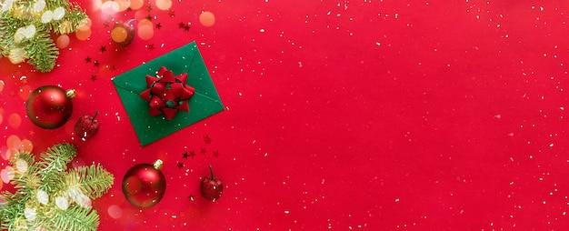 Kerstbrief met wenskaart en gefeliciteerd