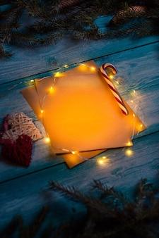 Kerstbrief naar de sprookjesachtige stijl. bespotten.
