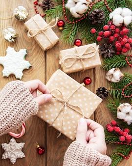 Kerstcadeau en decoratie