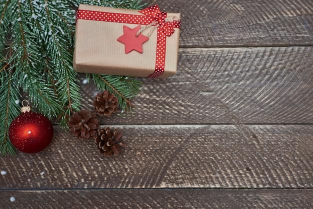 Kerstcadeau in winterseizoen