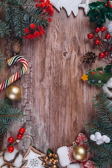 Kerstcadeaus liggen plat Gratis Foto