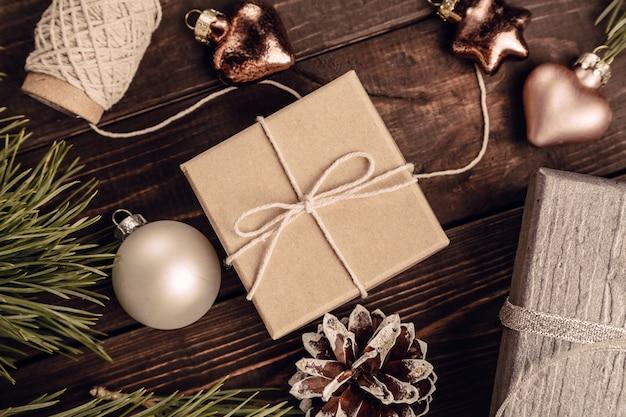 Kerstdecoratie achtergrond