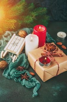 Kerstdecoratie en eten