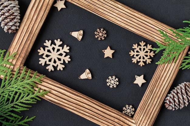 Kerstdecoratie met fotolijst.