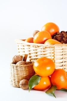 Kerstdecoratie met mandarijnen