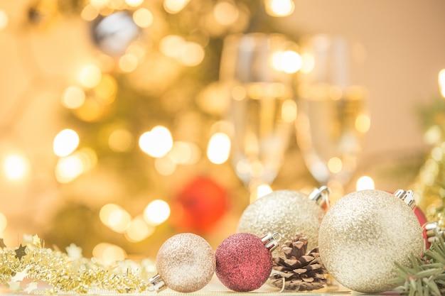 Kerstdecoratie op abstracte achtergrond
