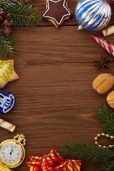 Kerstdecoratie op hout