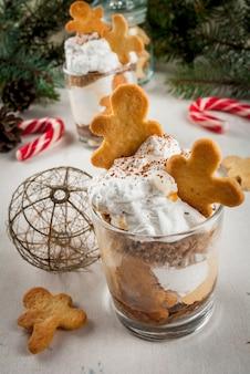 Kerstdessert, grappige ginger trifle