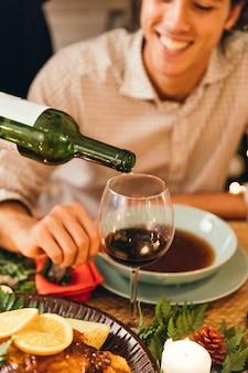 Kerstdiner en wijnconcept