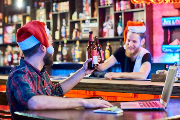 Kerstfeest in pub