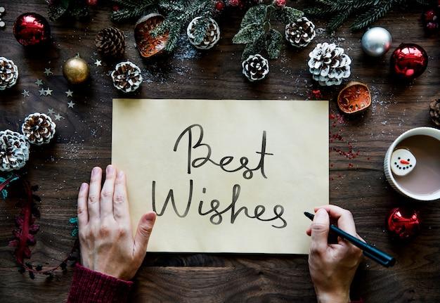 Kerstkaart met de beste wensen