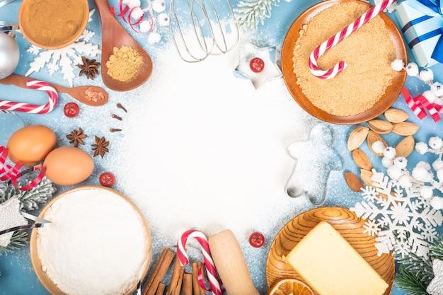 Kerstkoekje koken achtergrond