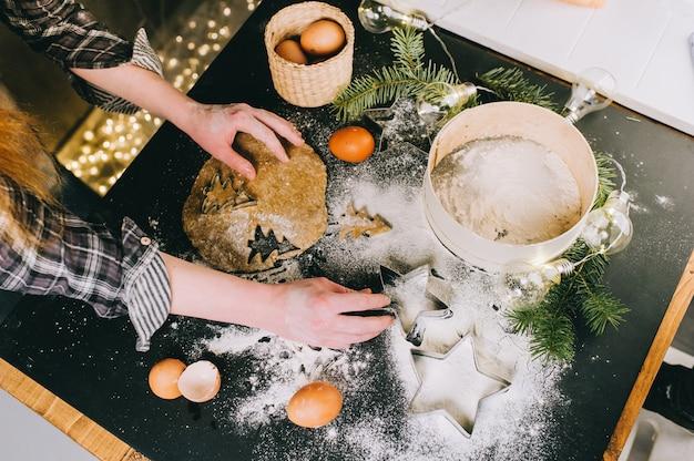 Kerstkoekjes voorbereiden