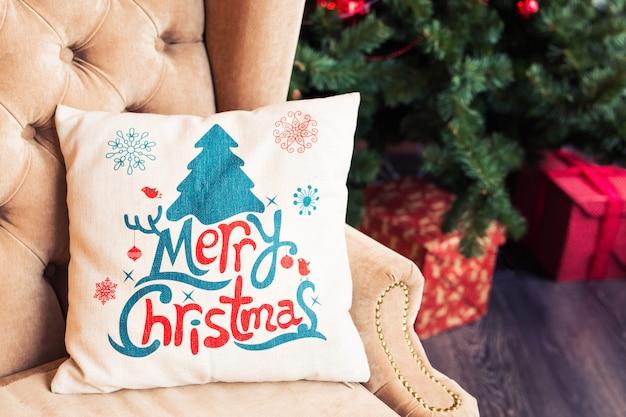 Kerstkussen voor decoratie