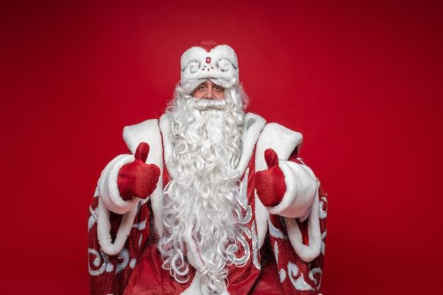 Kerstman duimen opdagen