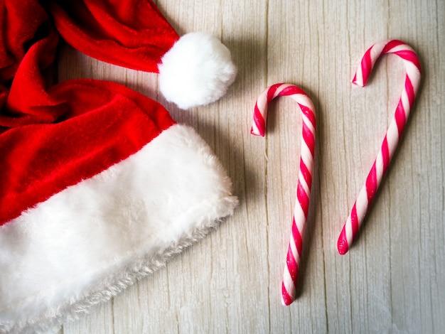 Kerstman en snoepjes, vrolijk kerstfeest
