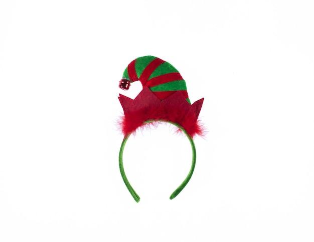 Kerstman hoofdband op witte achtergrond