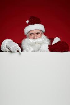 Kerstman met billboard