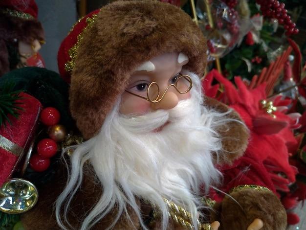 Kerstman met bruine hoed