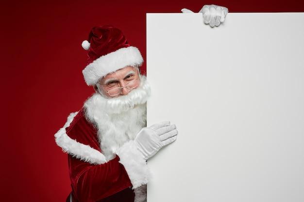 Kerstman met een grote boodschap