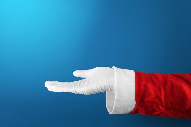 Kerstman met een open handgebaar