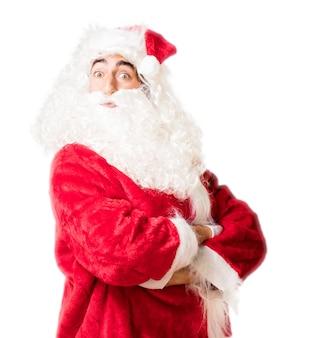 Kerstman met gekruiste wapens