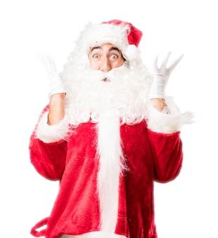 Kerstman verrast