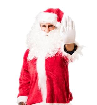 Kerstman zeggen stoppen