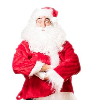 Kerstman zich met gekruiste wapens