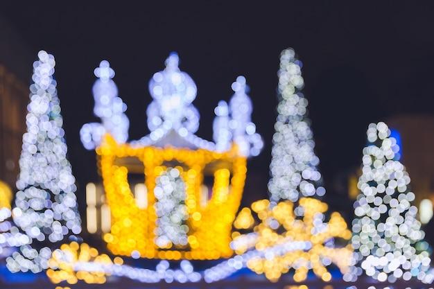 Kerstmis bokeh achtergrond