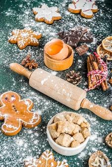 Kerstmis en nieuwjaar bakken achtergrond