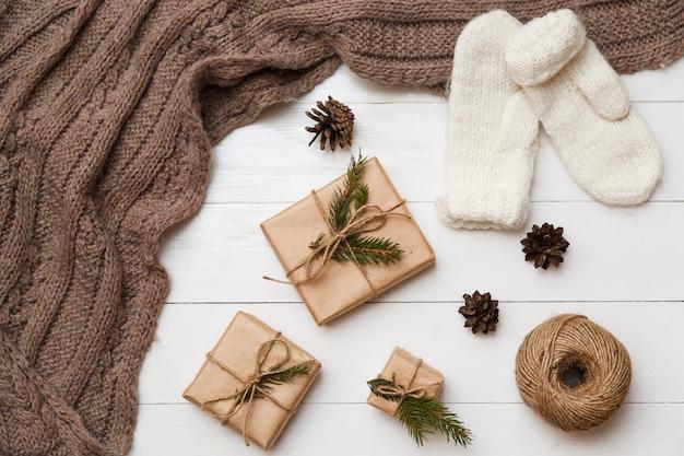 Kerstmis en nieuwjaar concept. verschillende decoratie.