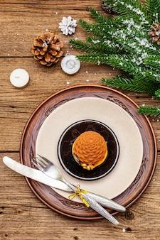 Kerstmis en nieuwjaar diner couvert