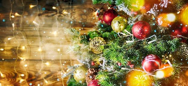 Kerstmis en nieuwjaar vakantie achtergrond