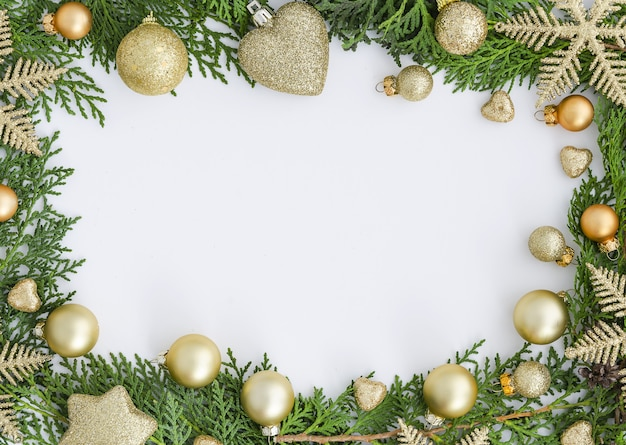 Kerstmis frame. nieuwjaars versieringen