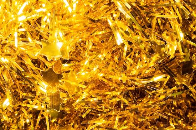 Kerstmis gouden klatergoud als achtergrond
