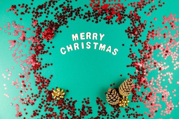 Kerstmis met vakantieartikelen en sterren